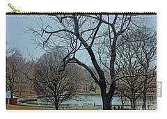 Afternoon In The Park Carry-all Pouch by Sandy Moulder