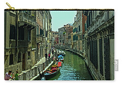Carry-all Pouch featuring the photograph Afternoon In Venice by Anne Kotan