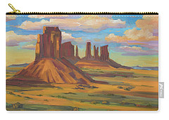 Carry-all Pouch featuring the painting Afternoon Light Monument Valley by Diane McClary