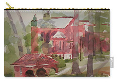 Carry-all Pouch featuring the painting Afternoon Shadows W403 by Kip DeVore
