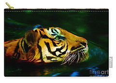 Afternoon Swim - Tiger Carry-all Pouch