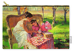 Carry-all Pouch featuring the painting Afternoon Tea Party by Steve Henderson