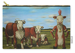 Against The Herd Carry-all Pouch by Leah Saulnier The Painting Maniac