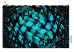 Agave Blues Abstract Carry-all Pouch by Stephanie Grant