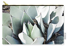 Carry-all Pouch featuring the photograph Agave Plant Leaves by Andrea Hazel Ihlefeld
