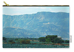Carry-all Pouch featuring the photograph Agave Workers by John Kolenberg