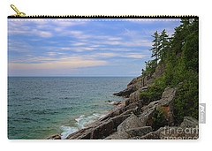 Carry-all Pouch featuring the photograph Agawa Bay Rocky Shore by Rachel Cohen