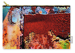 Aged Railroad Sign Paint - 2 Carry-all Pouch by Paul W Faust - Impressions of Light