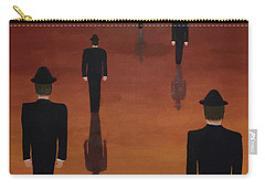 Carry-all Pouch featuring the painting Agents Orange by Thomas Blood