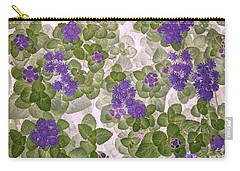Carry-all Pouch featuring the photograph Ageratum by Ann Jacobson