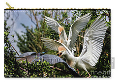 Aggression Between Cattle Egrets And Tricolored Heron Carry-all Pouch