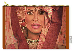 Carry-all Pouch featuring the painting Aglow by Alga Washington