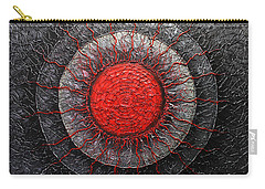 Red And Black Abstract Carry-all Pouch