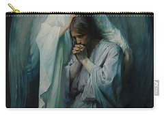 Carry-all Pouch featuring the painting Agony In The Garden By Frans Schwartz, 1898 3 by Frans Schwartz