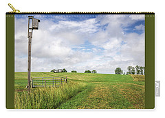 Agricultural Landscape With Birdhouse Carry-all Pouch