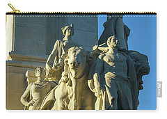 Carry-all Pouch featuring the photograph Agriculture Allegorie Monument To The Constitution Of 1812 Cadiz Spain by Pablo Avanzini