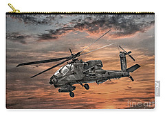 Ah-64 Apache Attack Helicopter Carry-all Pouch by Randy Steele