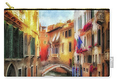 Carry-all Pouch featuring the digital art Ahh Venezia Painterly by Lois Bryan