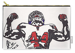 Carry-all Pouch featuring the drawing Ahmad Bradshaw by Jeremiah Colley