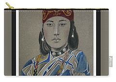 Ainu Woman -- Portrait Of Ethnic Asian Woman Carry-all Pouch