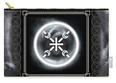 Carry-all Pouch featuring the digital art Air Emblem Sigil by Shawn Dall
