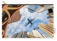 Airplane Above City Carry-all Pouch