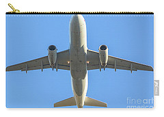 Airplane Isolated In The Sky Carry-all Pouch