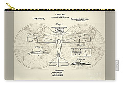 Airplane Patent Collage Carry-all Pouch by Delphimages Photo Creations