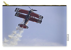 Airplane Performing Stunts At Airshow Photo Poster Print Carry-all Pouch by Keith Webber Jr