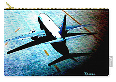 Carry-all Pouch featuring the photograph Airplane Tactics by Sadie Reneau