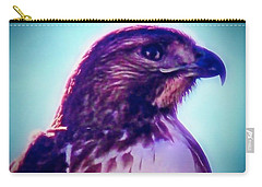 Ak-chin Red-tailed Hawk Portrait Carry-all Pouch