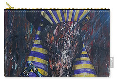 Carry-all Pouch featuring the painting Akhenaten Has Risen by Reed Novotny