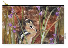 Carry-all Pouch featuring the painting Al Fresco Dining With A View by Judith Rhue
