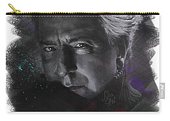 Carry-all Pouch featuring the drawing Alan Rickman by Julia Art