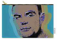 Carry-all Pouch featuring the digital art Alan Turing by Jean luc Comperat