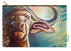 Carry-all Pouch featuring the painting Alarmed by Anthony Mwangi