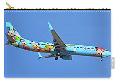 Alaska 737-990 N318as Spirit Of Disneyland Phoenix Sky Harbor November 27 2017 Carry-all Pouch