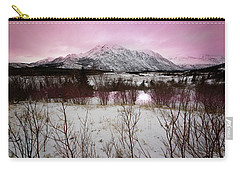 Alaska Range Pink Sky Carry-all Pouch