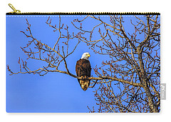Alaskan Bald Eagle In Tree At Sunset Carry-all Pouch