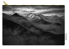 Carry-all Pouch featuring the photograph Alaskan Peak In The Shadows by Rick Berk
