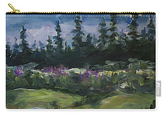 Carry-all Pouch featuring the painting Alaskan Woods by Yulia Kazansky