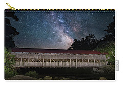 Albany Covered Bridge Under The Milky Way Carry-all Pouch
