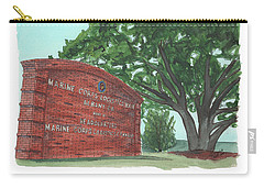 Carry-all Pouch featuring the painting Albany Logistics Base Welcme by Betsy Hackett
