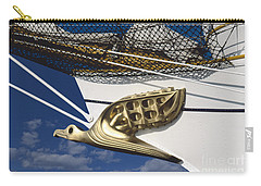 Carry-all Pouch featuring the photograph Albatross Figurehead by Heiko Koehrer-Wagner