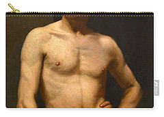 Carry-all Pouch featuring the painting Albert Edelfelt Male Model by Artistic Panda