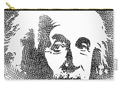 Albert Einstein Bw  Carry-all Pouch by Mihaela Pater