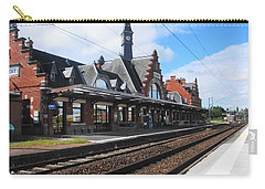 Carry-all Pouch featuring the photograph Albert Train Station, France by Therese Alcorn