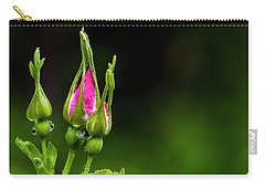 Carry-all Pouch featuring the photograph Alberta Rose Buds by Darcy Michaelchuk