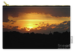 Carry-all Pouch featuring the photograph Alberta Sunset by Ann E Robson
