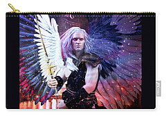 Albino Angel 3 Carry-all Pouch by Suzanne Silvir